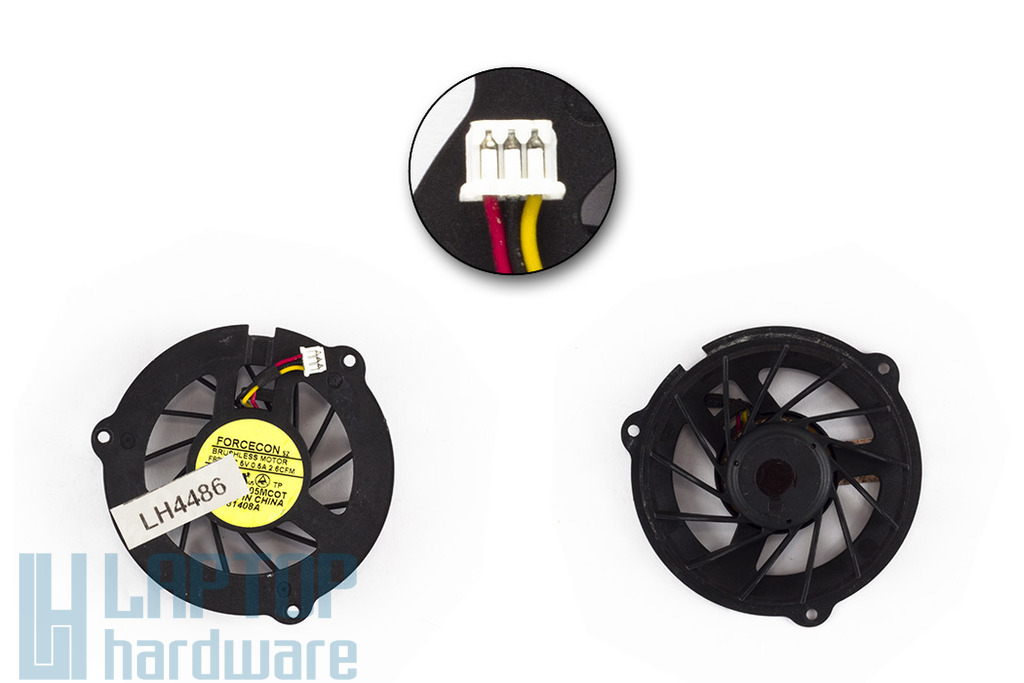HP Pavilion G50, G60, Compaq Presario CQ50, CQ60, CQ70 használt laptop hűtő ventilátor (DFS481305MC0T)