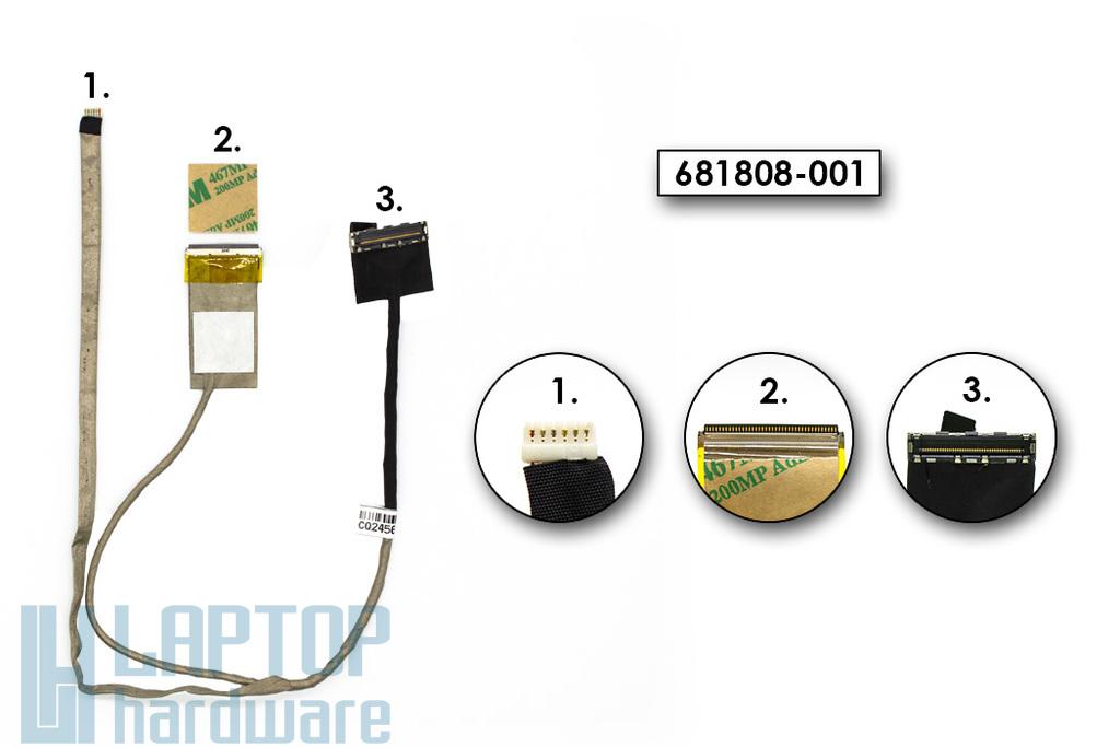 HP Pavilion G6-2000, G6-2300, G6T-2000, G6Z-2200 használt laptop LCD kijelző kábel (681808-001)
