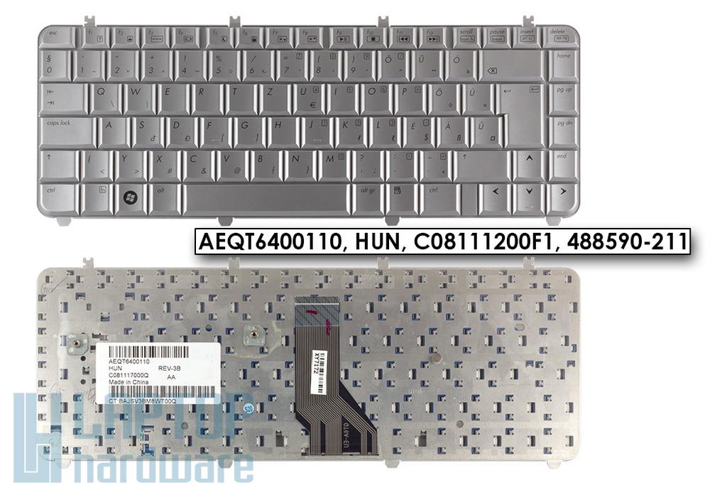 HP Pavilon DV5 gyári új ezüst magyar laptop billentyűzet (488590-211)