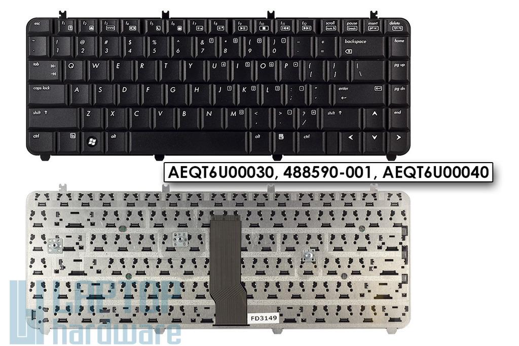 HP Pavilon DV5 gyári új US angol fekete laptop billentyűzet