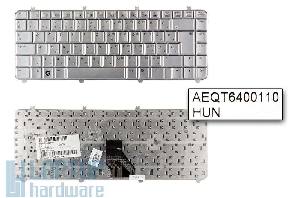 HP Pavilon DV5 használt ezüst magyar notebook billentyűzet (AEQT6400110)