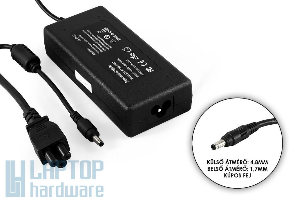 HP 19V 4.74A 90W (4.8mm-1.7mm kúpos jack) helyettesítő új laptop töltő (PA-1900-18H1,101880-001)