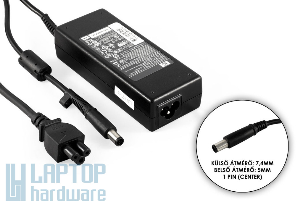 HP PPP012L-S 19V 4.74A 90W (center pin) használt laptop töltő