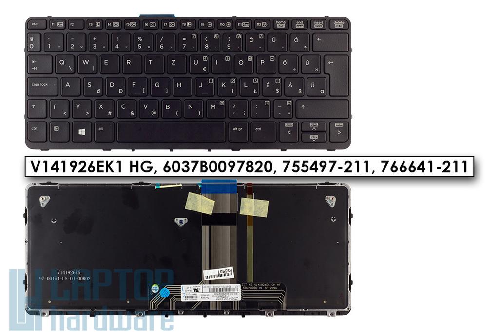 HP Pro X2 612 G1 gyári új magyar háttér-világításos tablet hibrid billentyűzet (755497-211, 766641-211)