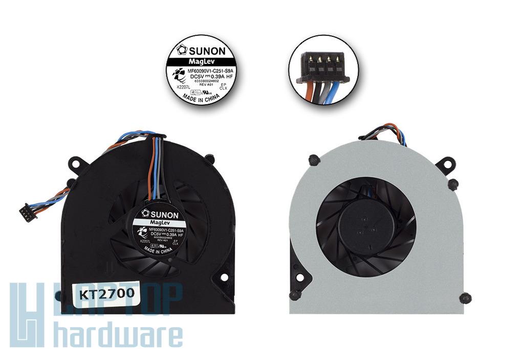 HP ProBook 4230s, 4231s gyári új laptop hűtő ventilátor, MF60090V1-C251-S9A