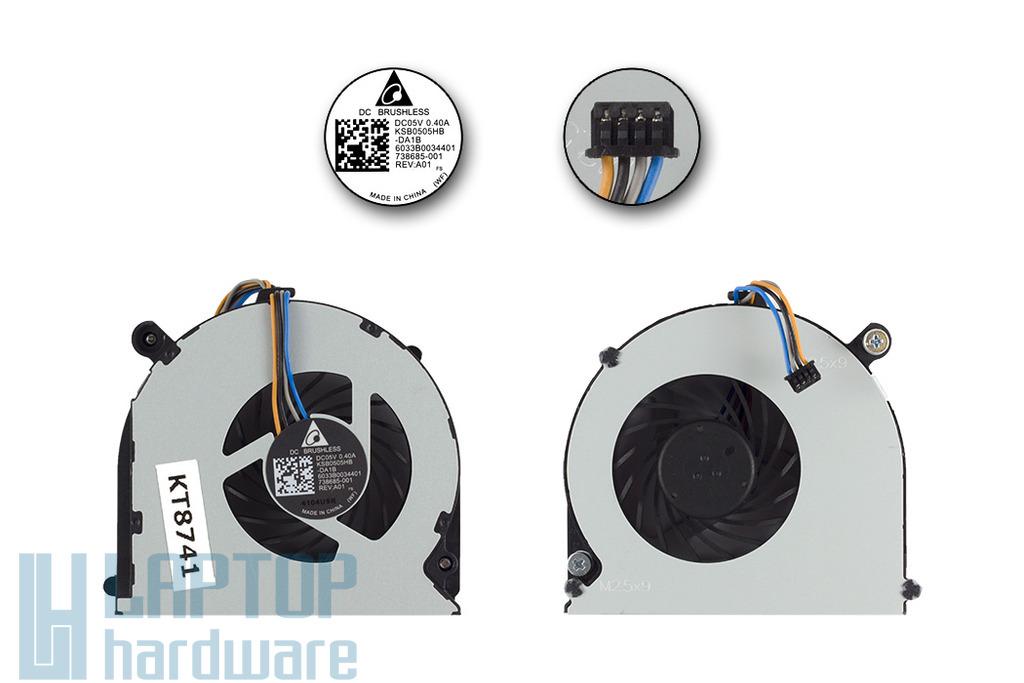 HP ProBook 4230s, 4231s használt hűtő ventilátor, KSB0505HB-DA1B