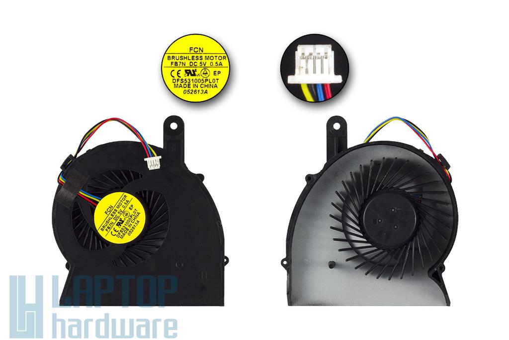 HP ProBook 4340s, 4341s gyári új laptop hűtő ventilátor, 683860-001