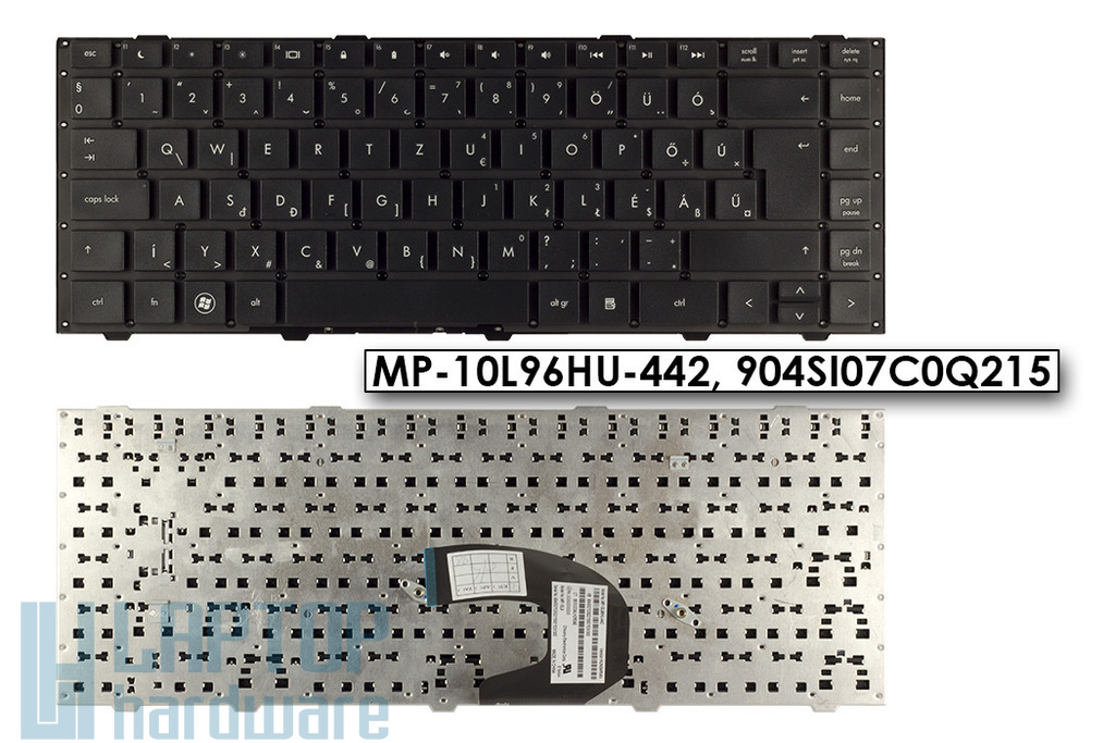 HP Probook 4440s, 4441s, 4445s gyári új magyar laptop billentyűzet, keret nélkül, MP-10L96HU-442