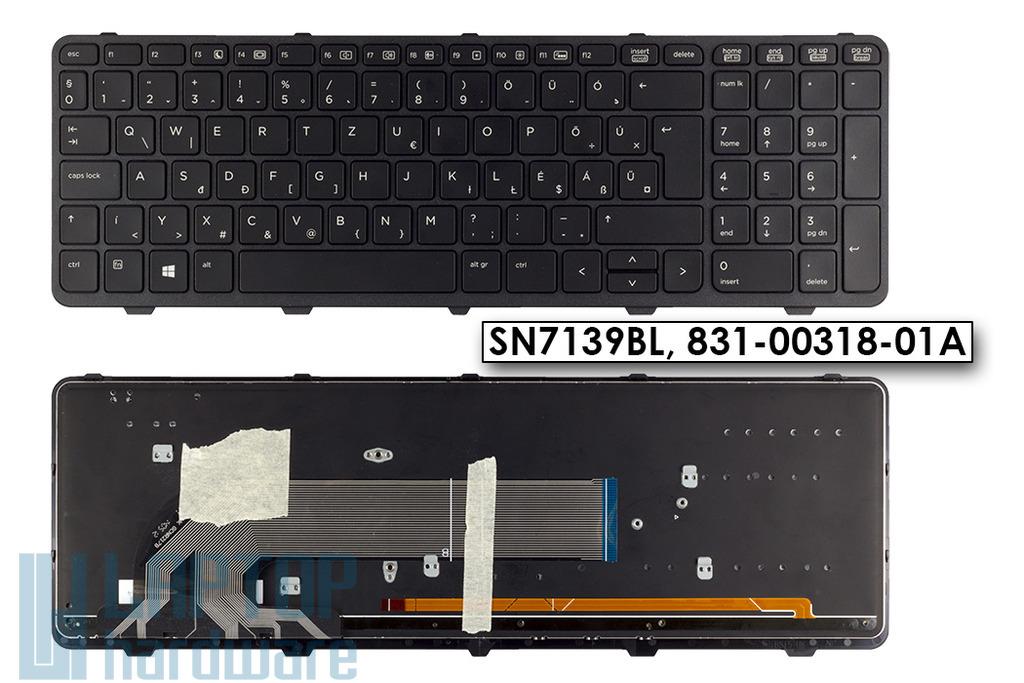 HP ProBook 450 G0, 450 G1 gyári új fekete háttérvilágításos magyar laptop billentyűzet, SN7139BL