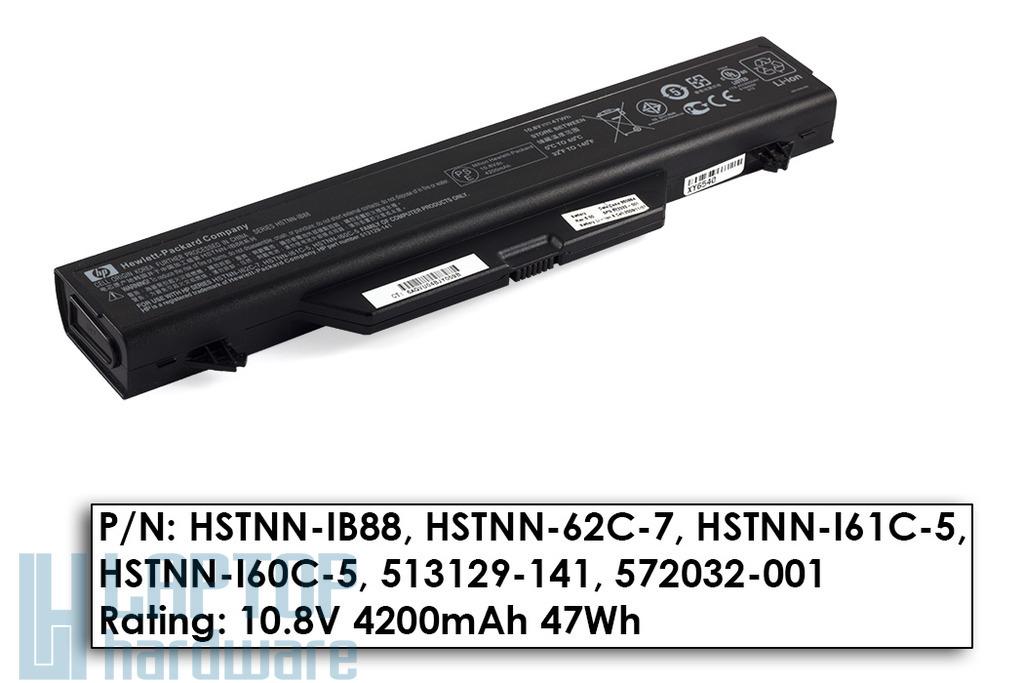 HP ProBook 4510s, 4515s, 4710s használt 45%-os 6 cellás laptop akku/akkumulátor (HSTNN-IB88)