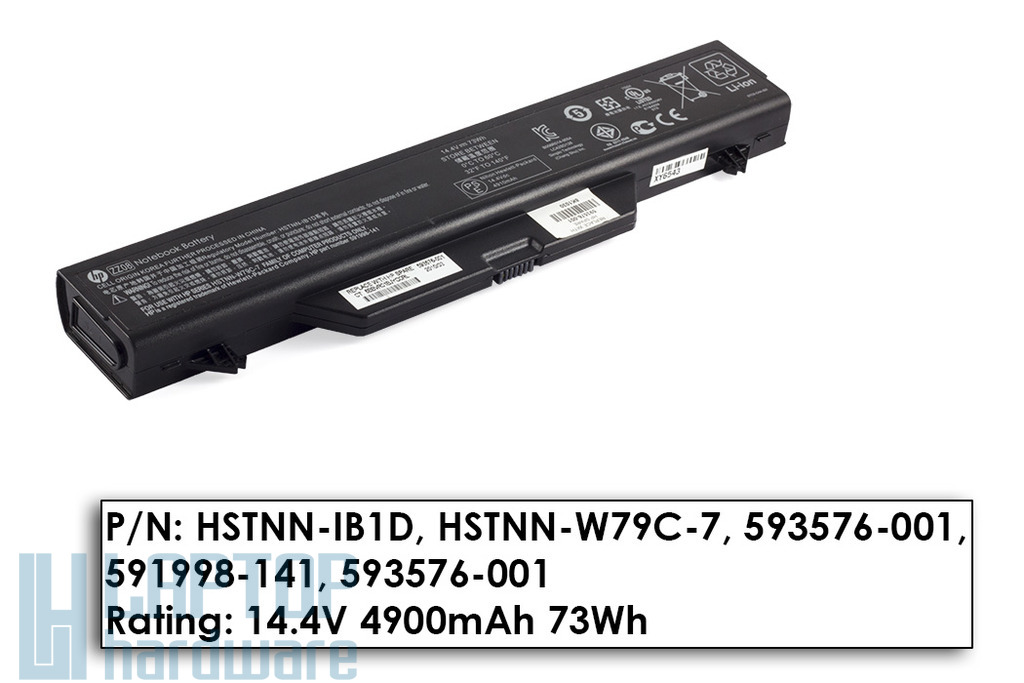 HP ProBook 4510s, 4515s, 4710s használt 80%-os 6 cellás laptop akku/akkumulátor (HSTNN-IB1D)