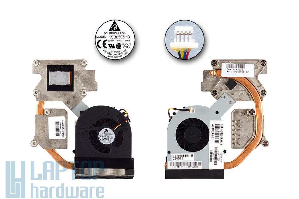 HP ProBook 4520s, 4720s használt komplett laptop hűtés (Discrete) (598677-001, KSB0505HB-9H58, 603865-001)