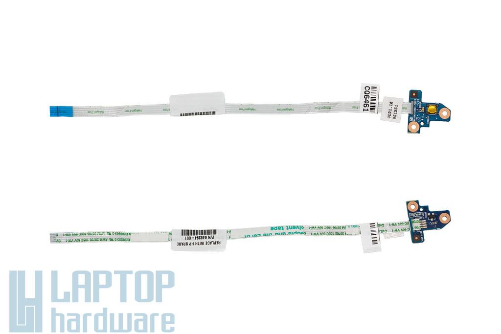 HP Probook 4530s, 4535s, 4730s gyári új laptop bekapcsoló gomb panel kábellel (646294-001)