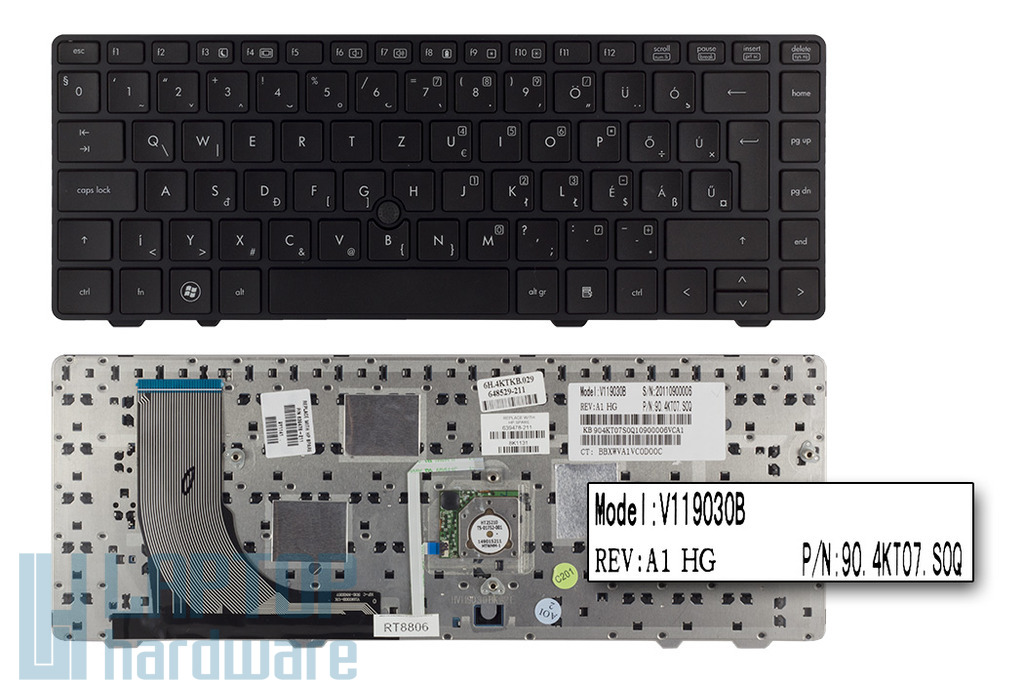 HP ProBook 6360B gyári új magyar laptop billentyűzet trackpointal (639478-211)