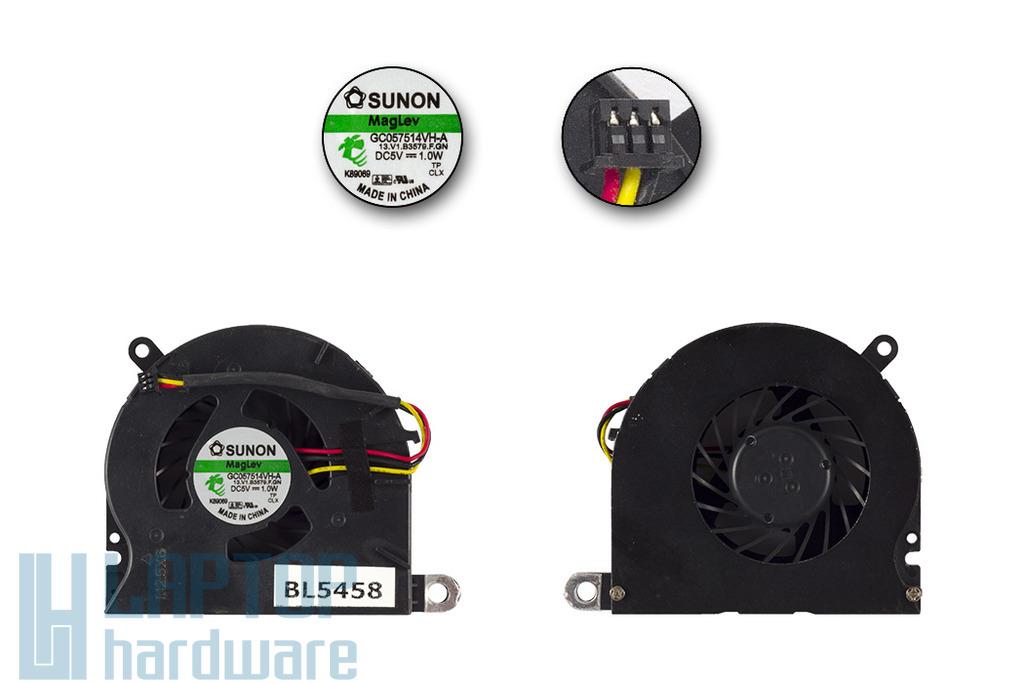 HP ProBook 6440b, 6445b, 6540b, 6545b, 6555b gyári új hűtő ventilátor, 613349-001
