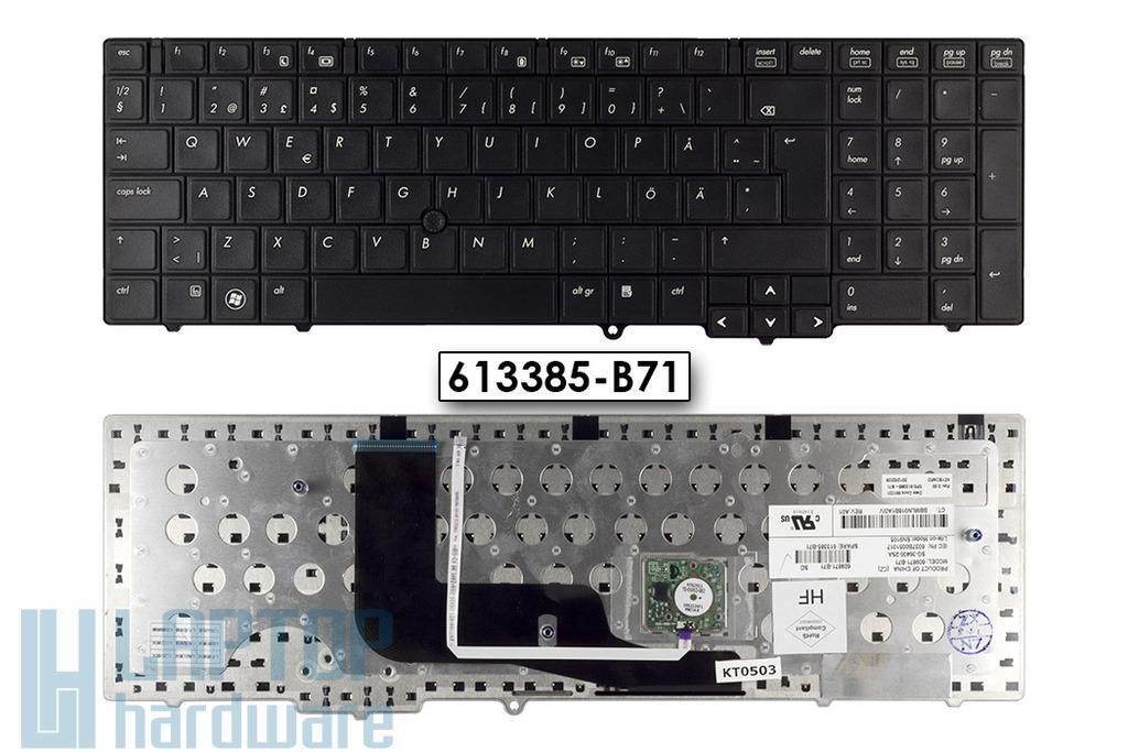 HP ProBook 6550b, 6555b gyári új svéd/finn laptop billentyűzet (613385-B71)