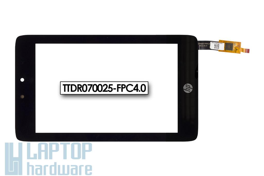 Érintő panel, touchscreen HP Slate 7 HD tablethez (TTDR070025-FPC4.0)