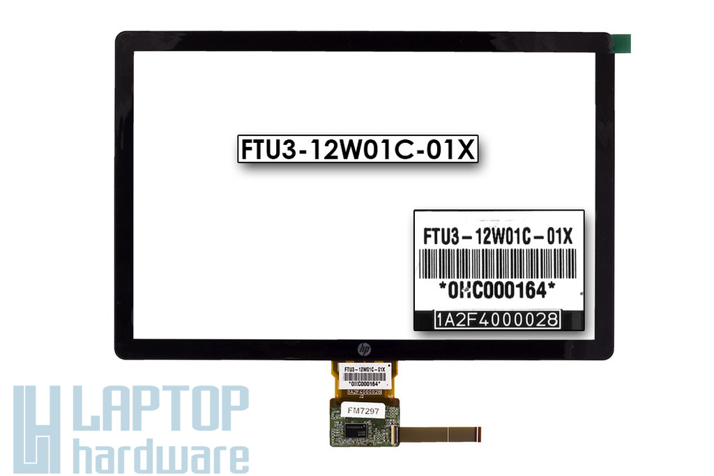 Érintő panel, touchscreen HP Touchsmart TM2-1000, TM2-2000 tablethez (FTU3-12W01C-01X)
