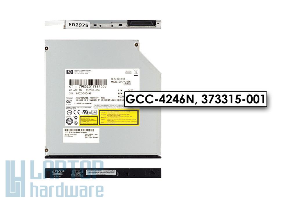 HP Ultra Slim 9.5mm használt IDE laptop CD Író DVD olvasó combó meghajtó, GCC-4246N