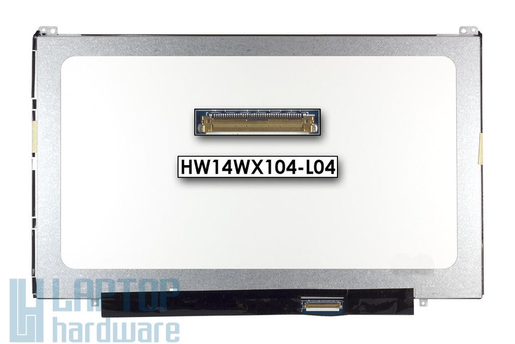 Gyári új fényes 14.0'' HD (1366x768) LED laptop Slim kijelző (csatlakozó: 40 pin - jobb)