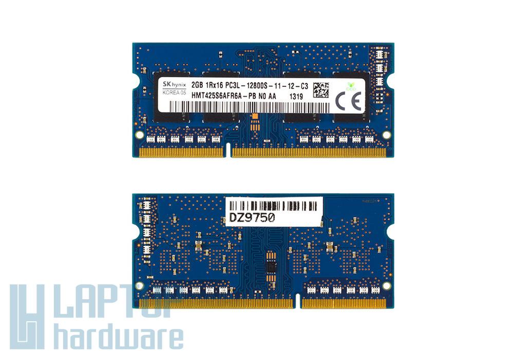 Hynix 2GB DDR3L 1600MHz használt low voltage memóra HP laptopokhoz