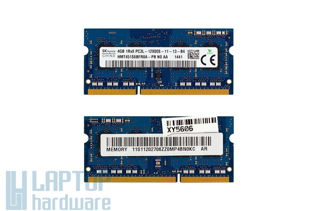 4GB DDR3L 1600MHz használt low voltage laptop memória