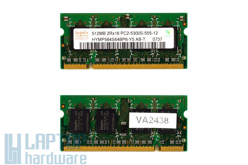 512MB DDR2 667MHz használt laptop memória