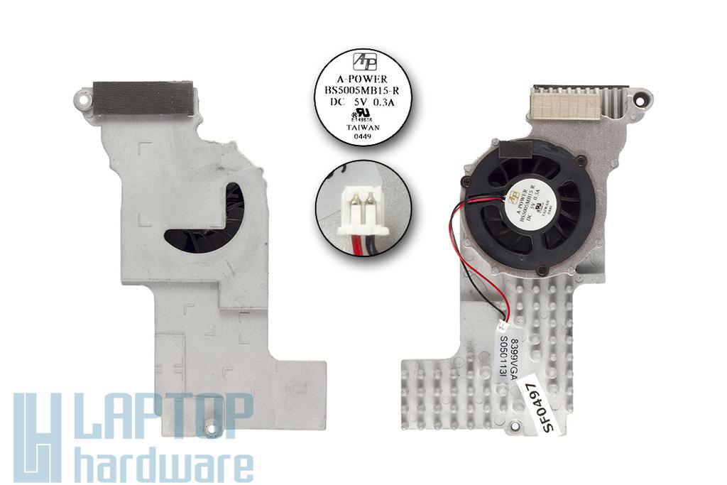 Hyrican Tango Mitac 8399 használt komplett VGA laptop hűtő ventilátor egység (S050113I)