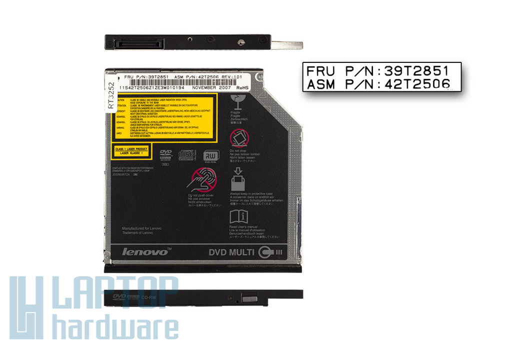 IBM Lenovo ThinkPad T61 laptophoz használt Ultra Slim IDE DVD-író (39T2851)