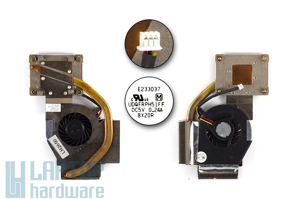 IBM ThinkPad R60, R60e gyári új laptop hűtő ventilátor (41W5268)
