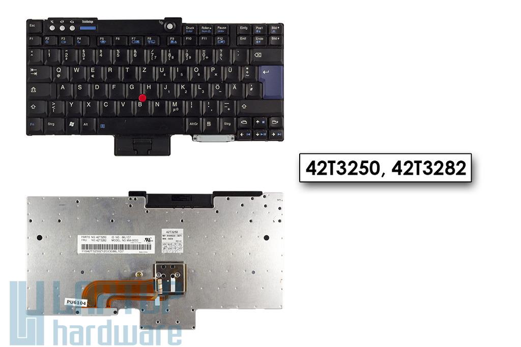 IBM Lenovo ThinkPad R60, R61, T60, T61 használt német laptop billentyűzet, 42T3282