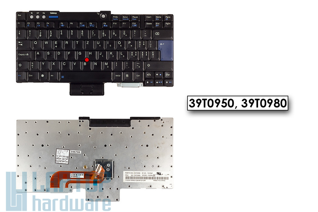 IBM Lenovo ThinkPad R60, R61, T60, T61 használt svájci laptop billentyűzet (39T0950, 39T0980)