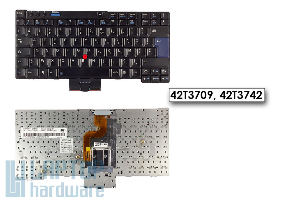 Lenovo ThinkPad X200, X200s, használt francia laptop billentyűzet 42T3684