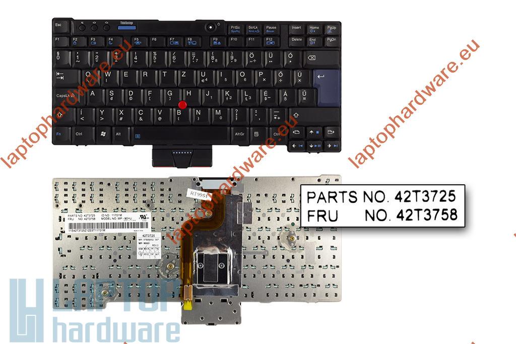 Lenovo ThinkPad X200, X200s, X200si, X201, X201i, X201s, X201  használt magyar laptop billentyűzet (42T3692)