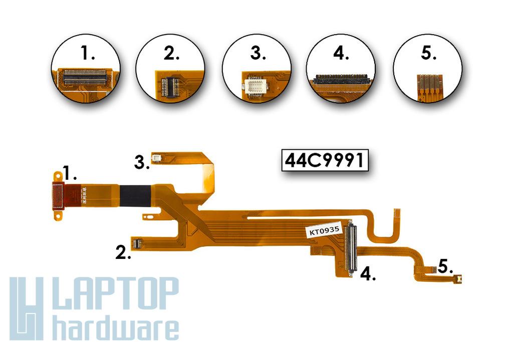 IBM Lenovo ThinkPad X200, X201 gyári új laptop LCD kábel (LED) (44C9991)