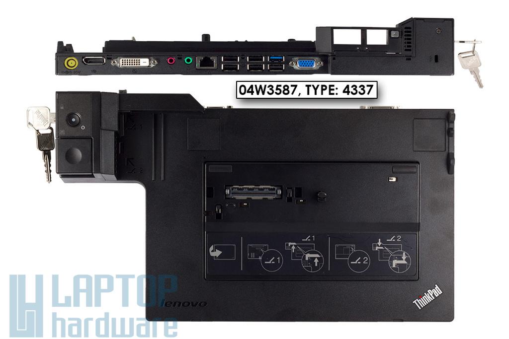 IBM Lenovo ThinkPad X220, X230, T420, laptophoz használt ThinkPad Mini Dock Series 3 dokkoló USB3.0 porttal (04W3587, TYPE: 4337)