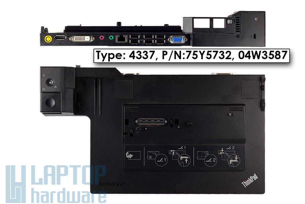IBM Lenovo ThinkPad X220, X230, T420, laptophoz használt ThinkPad Mini Dock Series 3 dokkoló (75Y5733, TYPE: 4337)