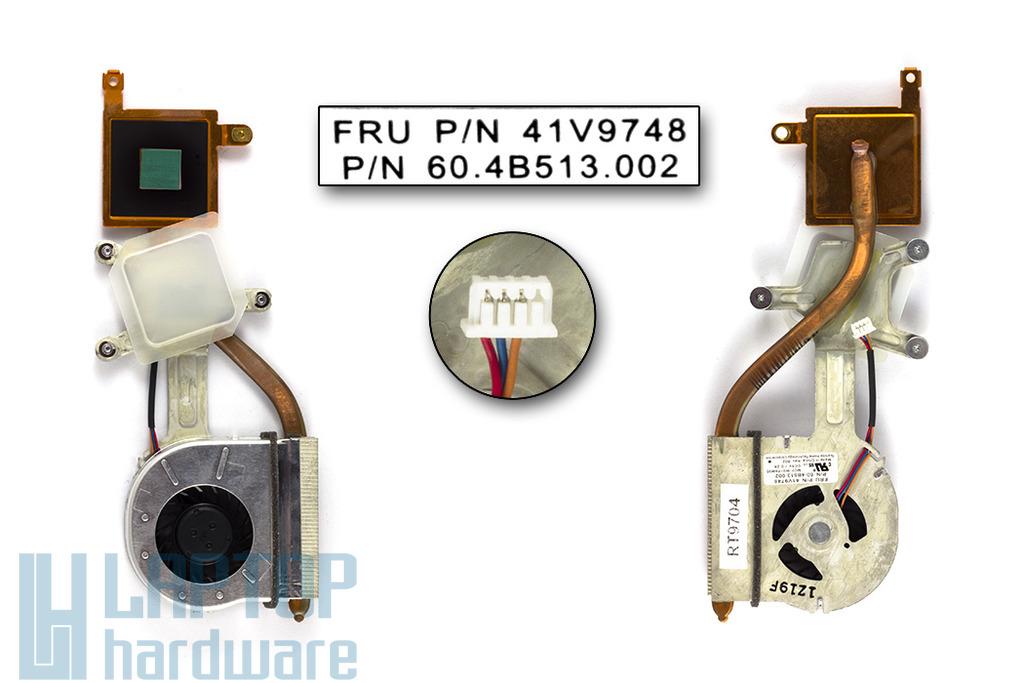 IBM Lenovo ThinkPad X60, X60s gyári új laptop hűtő ventilátor (FRU 41V9748)