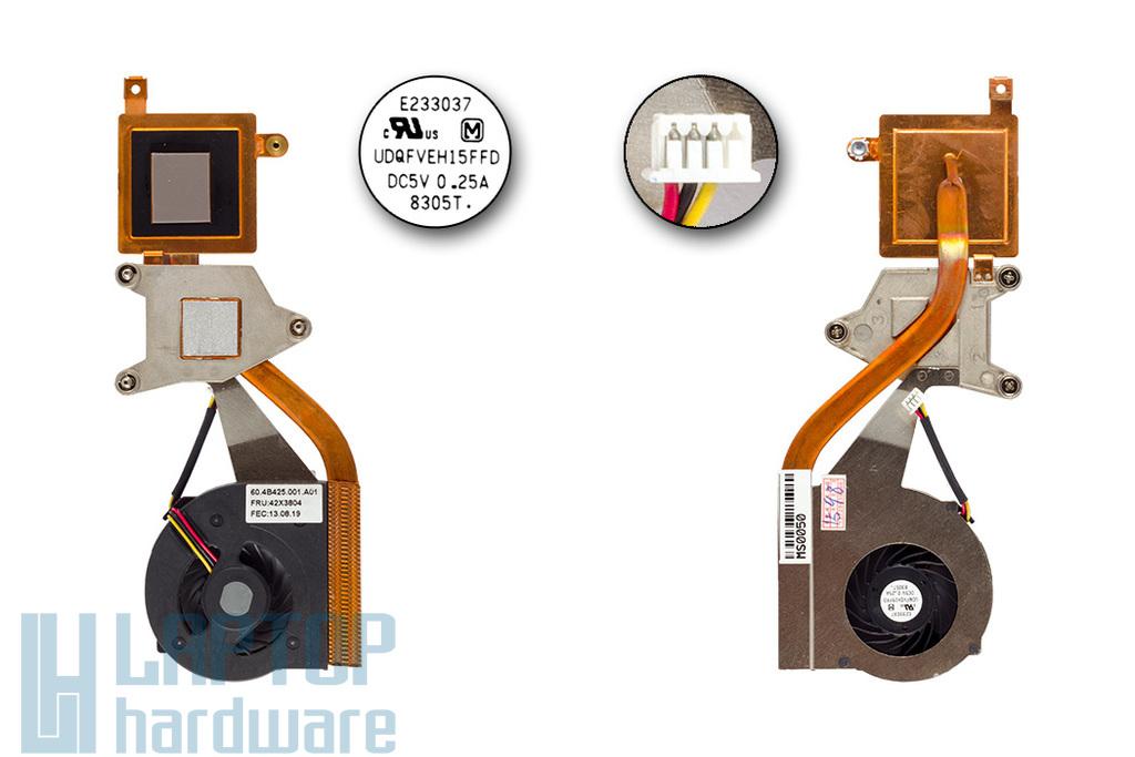 IBM - Lenovo ThinkPad X60, X60s, X61, X61s gyári új komplett laptop hűtés (42X3804, UDQFVEH15FFD)