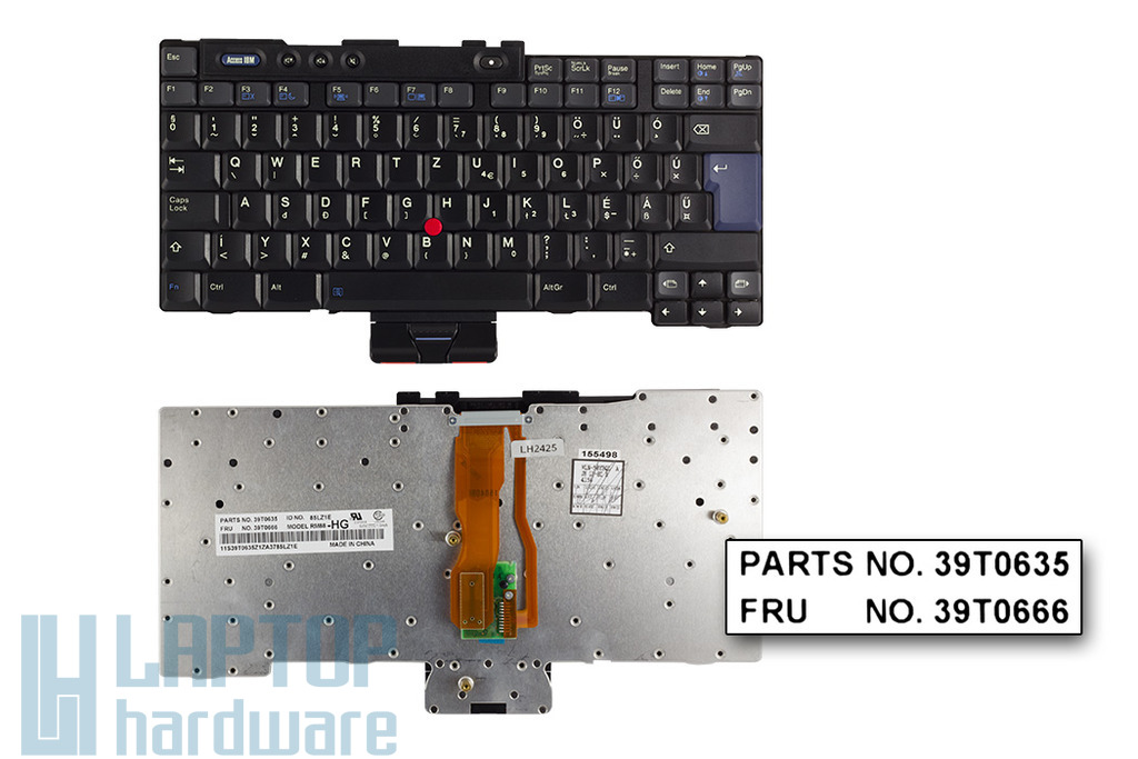 IBM T40, T41, T42, T43 (15 inch) gyári új magyar laptop billentyűzet (93P4803)