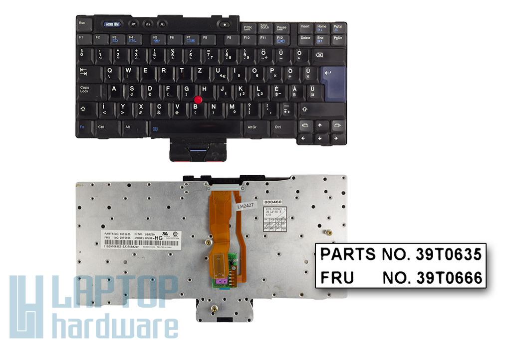 IBM T40, T41, T42, T43 (15 inch) használt magyar laptop billentyűzet (93P4803)