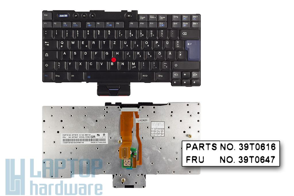 IBM T40, T41, T42, T43 (15 inch) használt német laptop billentyűzet (39T0616)