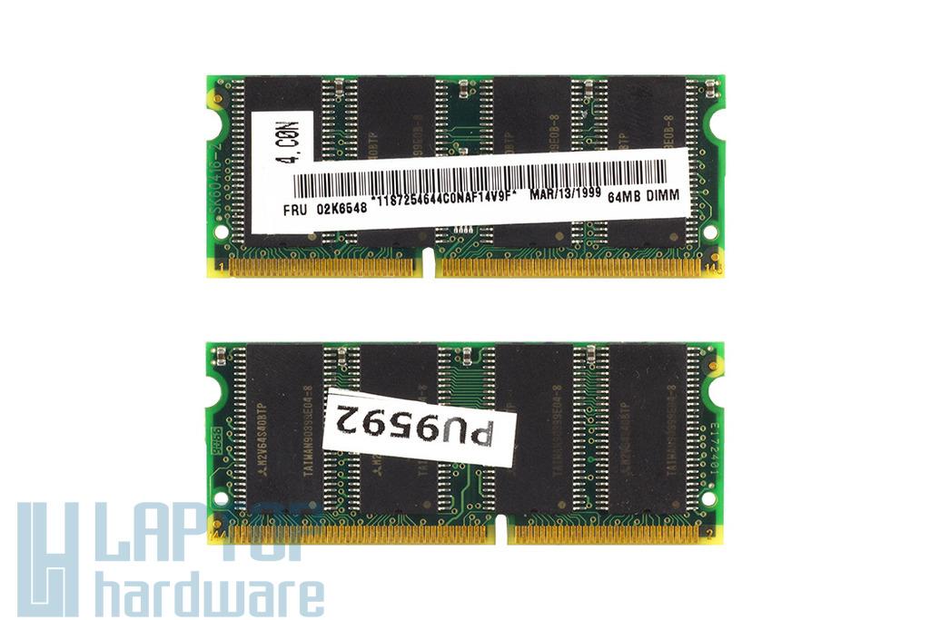 IBM ThinkPad 390, ThinkPad i Series 1720 64MB SDRAM 66Mhz használt laptop memória