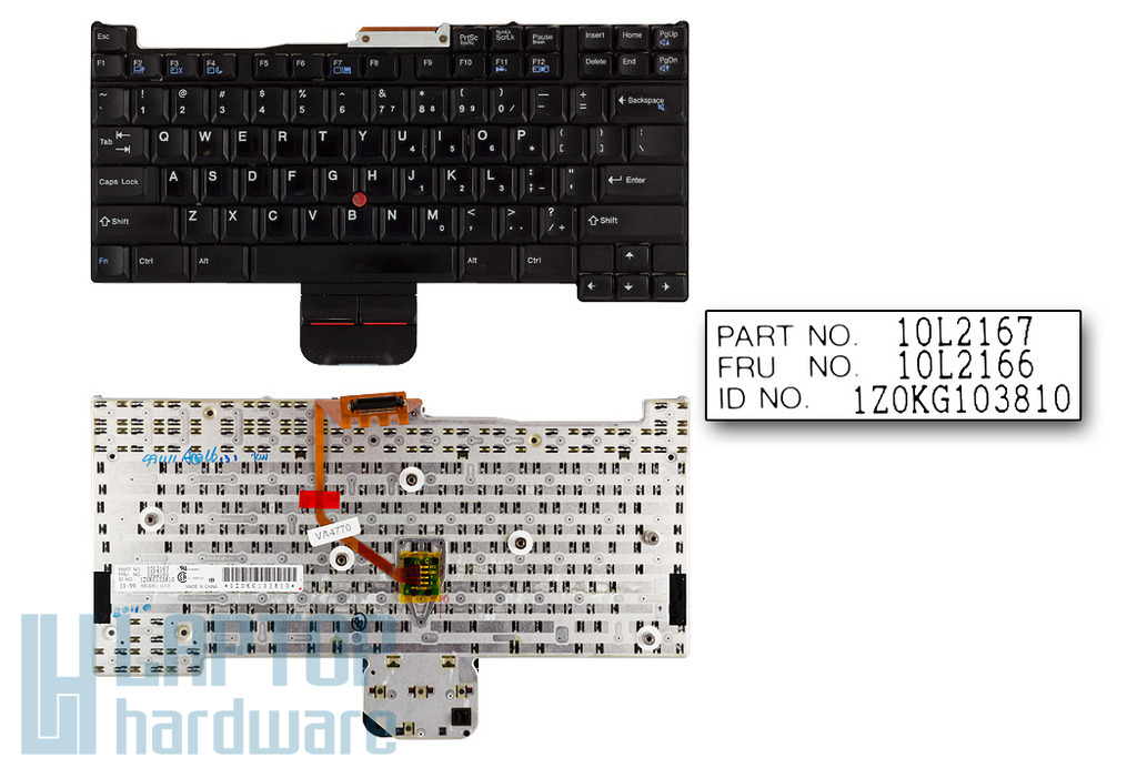 IBM ThinkPad 570, 570E használt US angol laptop billentyűzet (FRU 10L2166)