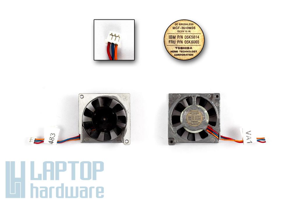 IBM ThinkPad 570, 570E laptophoz használt hűtőventilátor (05K6065)