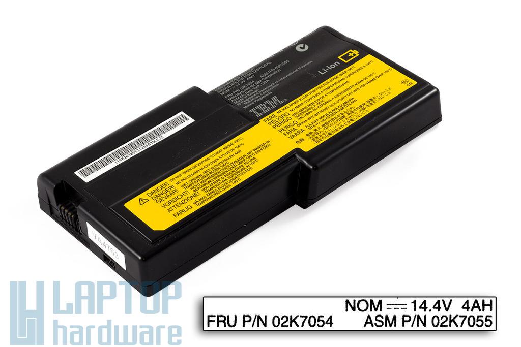 IBM ThinkPad R32, R40 használt 6 cellás 50%-os laptop akku/akkumulátor (FRU 02K7054, 02K7055)