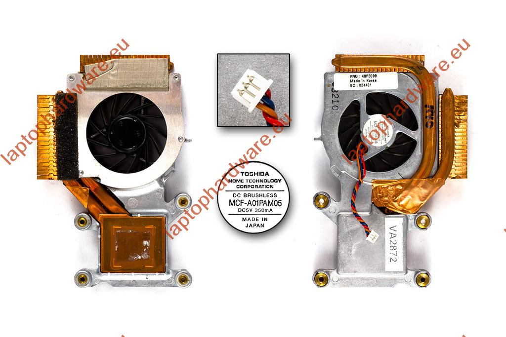 IBM ThinkPad R40, R40e használt laptop hűtő ventilátor (46P3099)