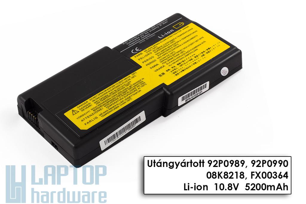 IBM ThinkPad R40e helyettesítő új 6 cellás laptop akku/akkumulátor (08K8218)