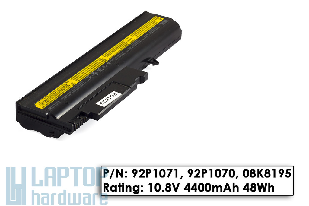 IBM ThinkPad R50, R51, T40, T41, T42, T43 használt 6 cellás 20%-os