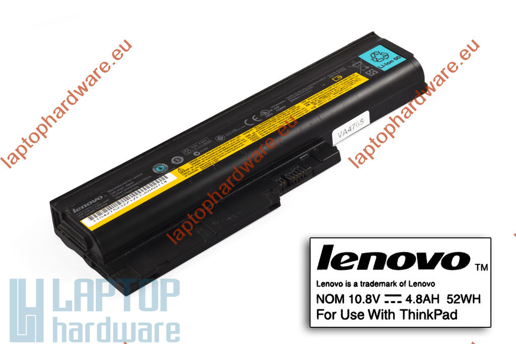 IBM ThinkPad R60, T60 használt 6 cellás 75%-os laptop akku/akkumulátor (FRU 42T4670)